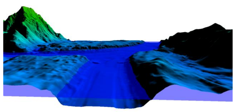 A Blending Technique of Topograhic and Hydrographic DEMs for River Alignment Modelling